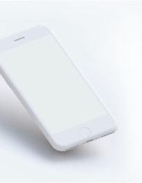 free clay floating iPhone mockup