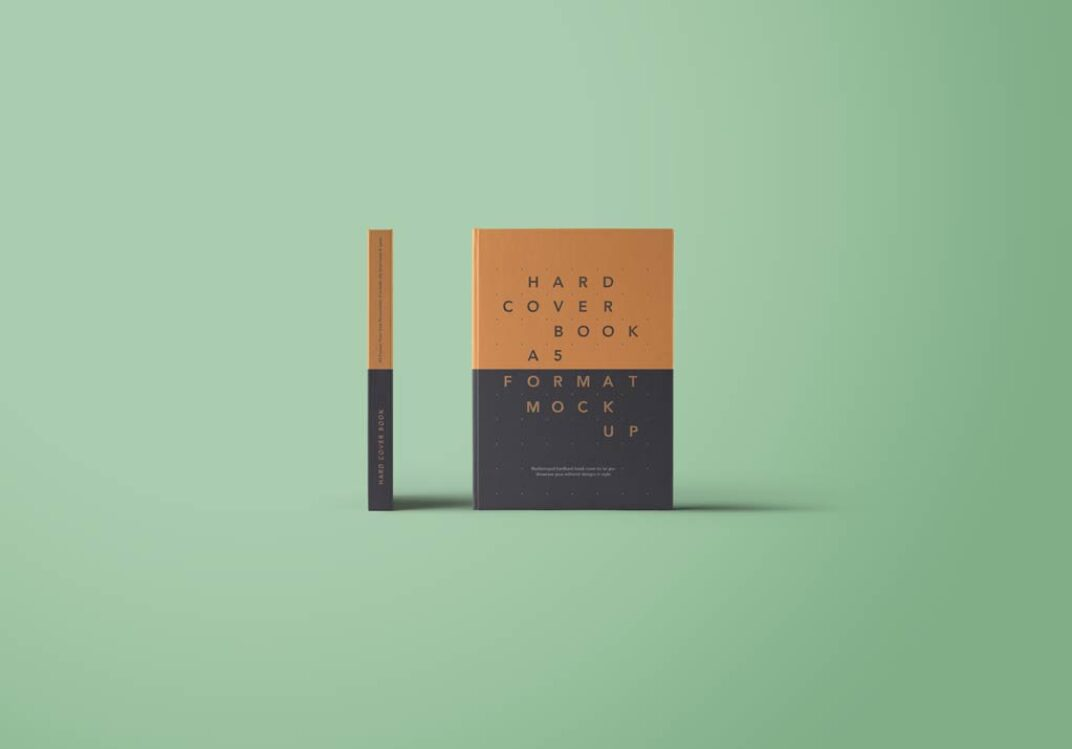 A5 Hardcover Book Mockup FREE download