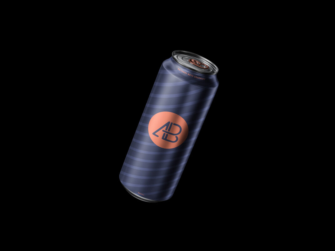 Aluminum Can (330 & 500 ml) Mockups FREE download