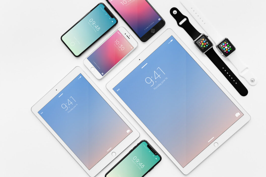 Apple Devices Showcase Mockup Bundle FREE download