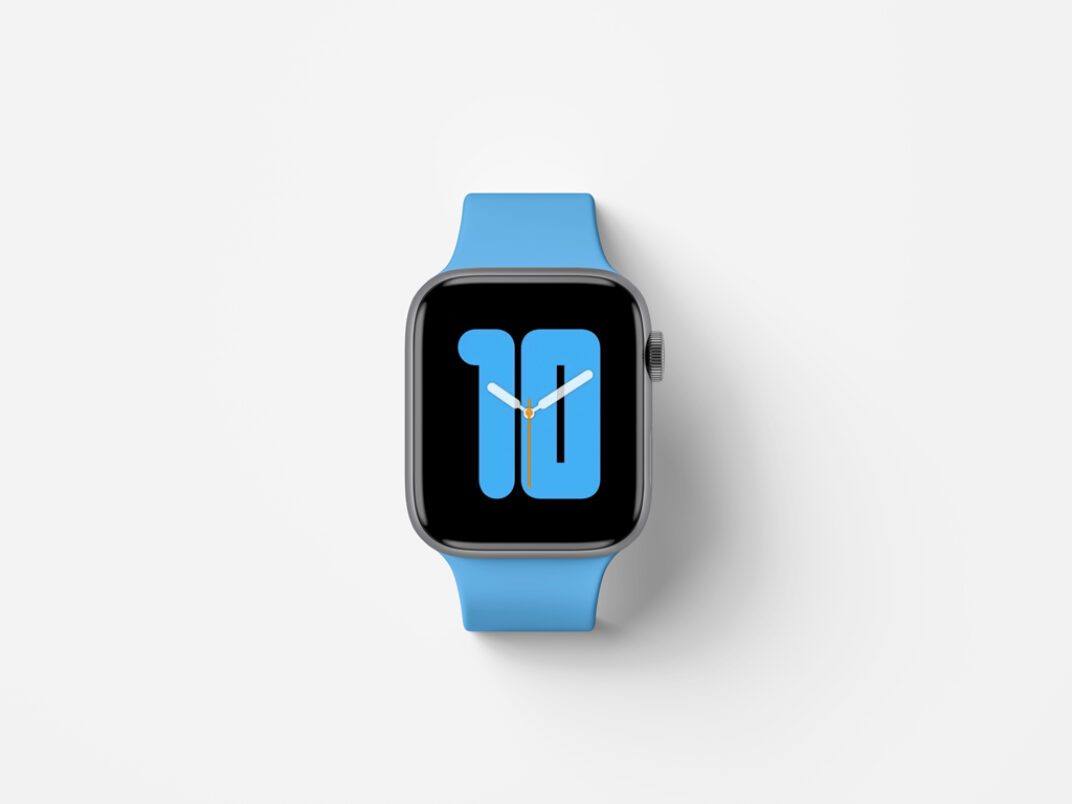 Apple Watch Series 5 Top View Mockup FREE download