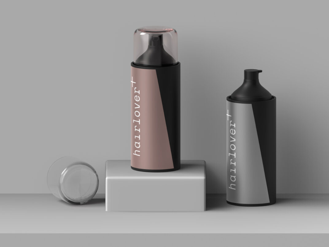 Bottles of Hair Spray/Foam Mockup FREE download