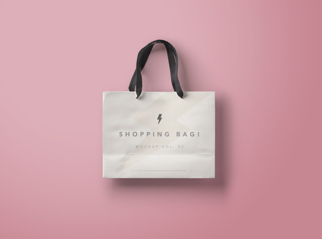 Branded Paper Shopping Bag Mockup FREE download