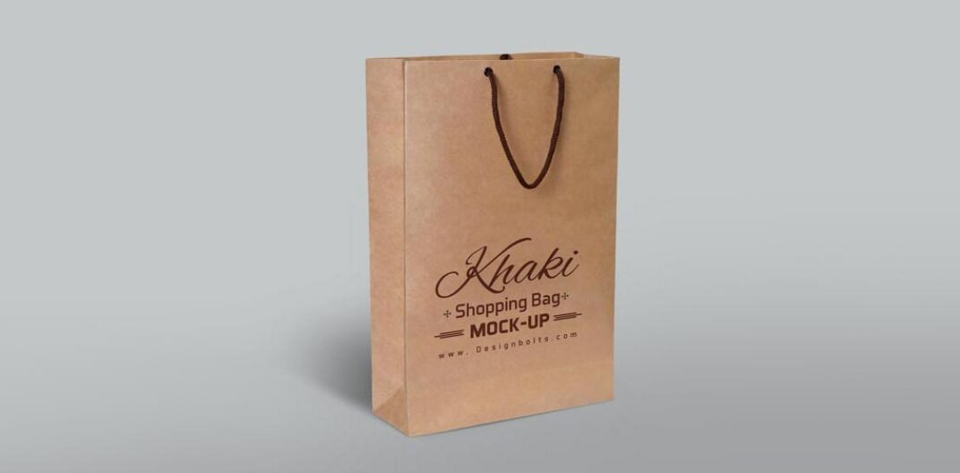 Brown Paper Bag Mockup FREE download