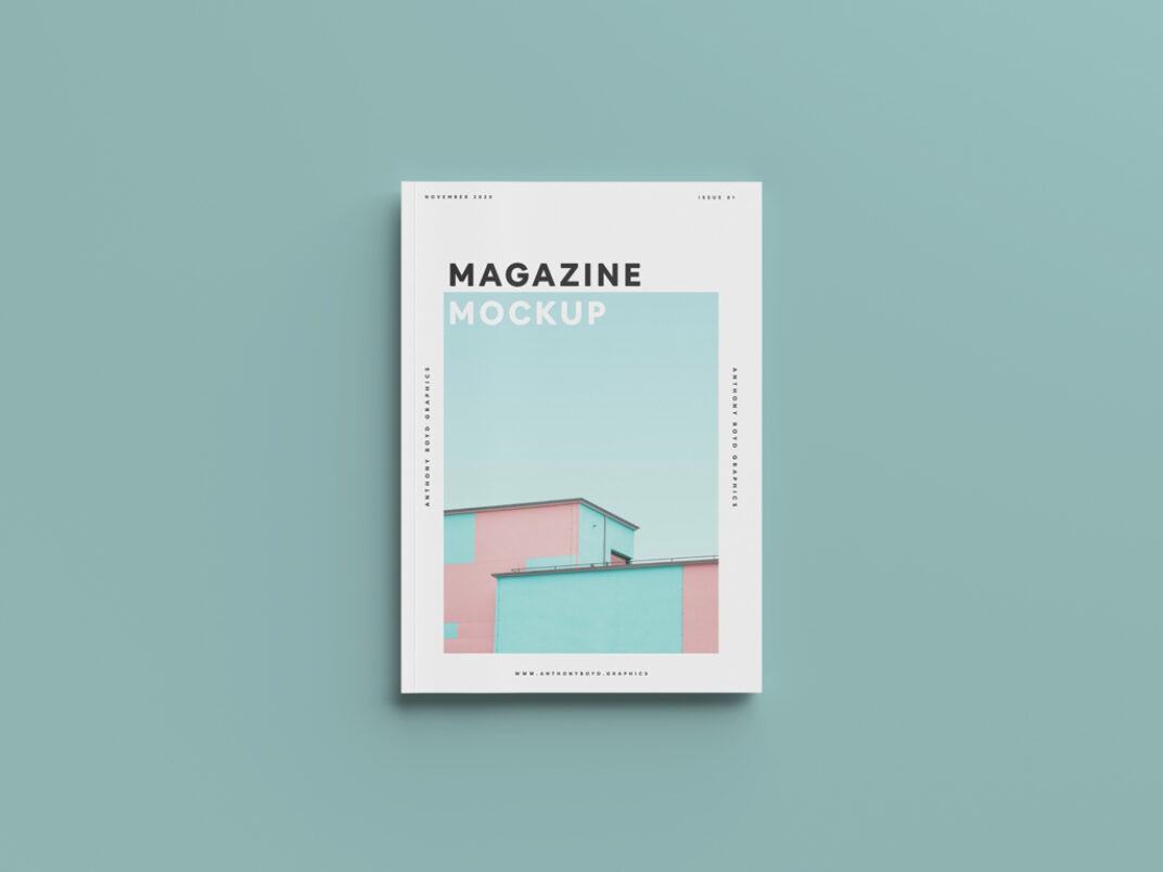 Clean Magazin Cover Mockup FREE download