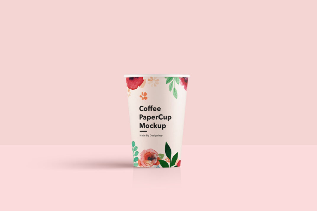 Clean Paper Cup Mockup FREE download