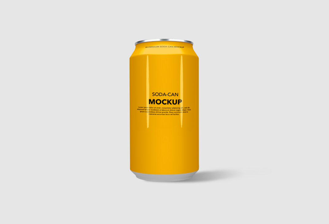 Clean Soda Can Mockup FREE download