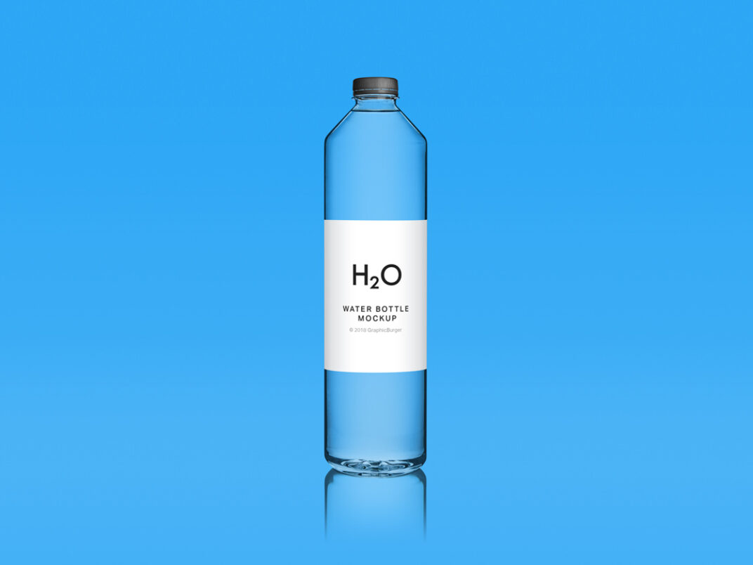 Clean Water Bottle Mockup FREE download