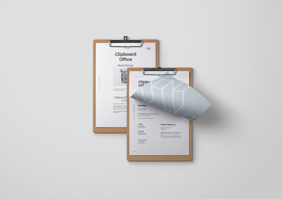 Clipboard Mockup FREE download