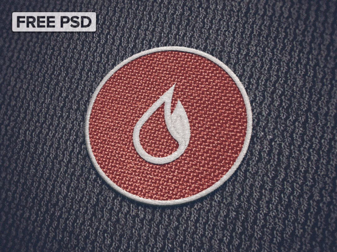 Cloth Patch Mockup FREE download
