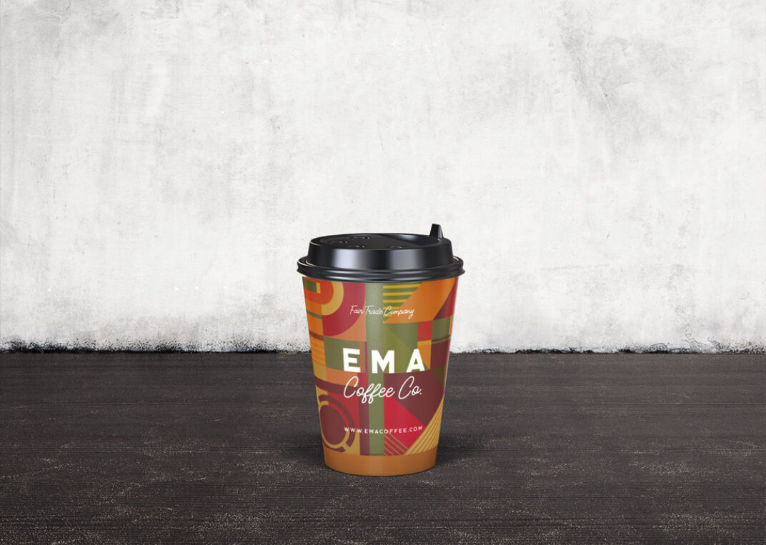 Coffee Paper Cup with Lid Mockup FREE download