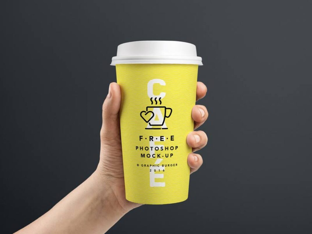 Coffee-to-go Cup Mockup FREE download
