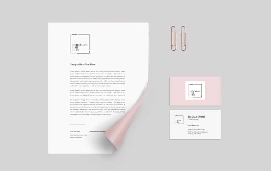 Corporate Identity Paper Mockup FREE download