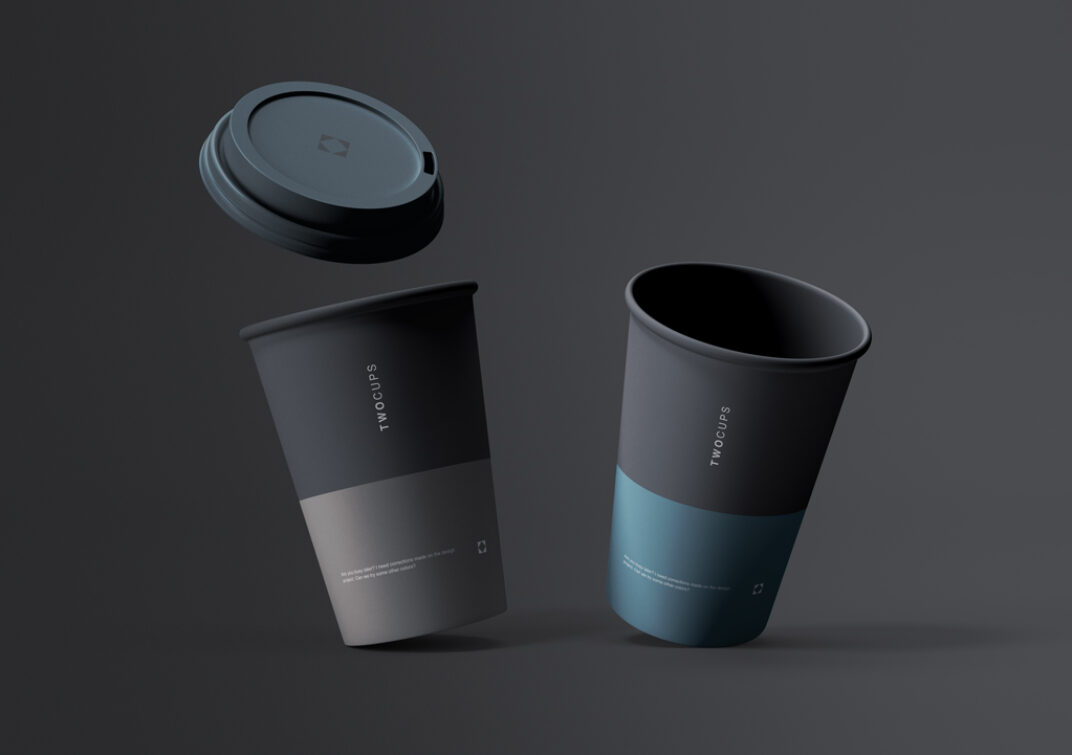 Disposable Paper Cups Mockup FREE download