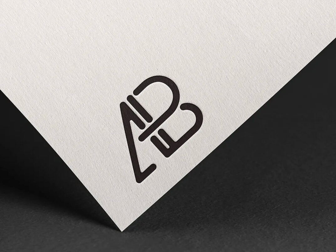 Embossed Logo on white Paper Mockup FREE download