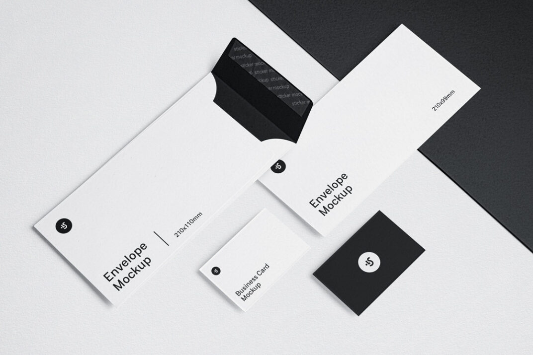 Envelopes and Business Cards Mockup FREE download