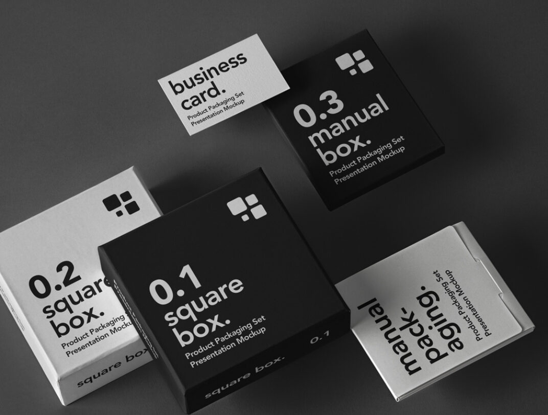 Floating Boxes Mockup FREE download