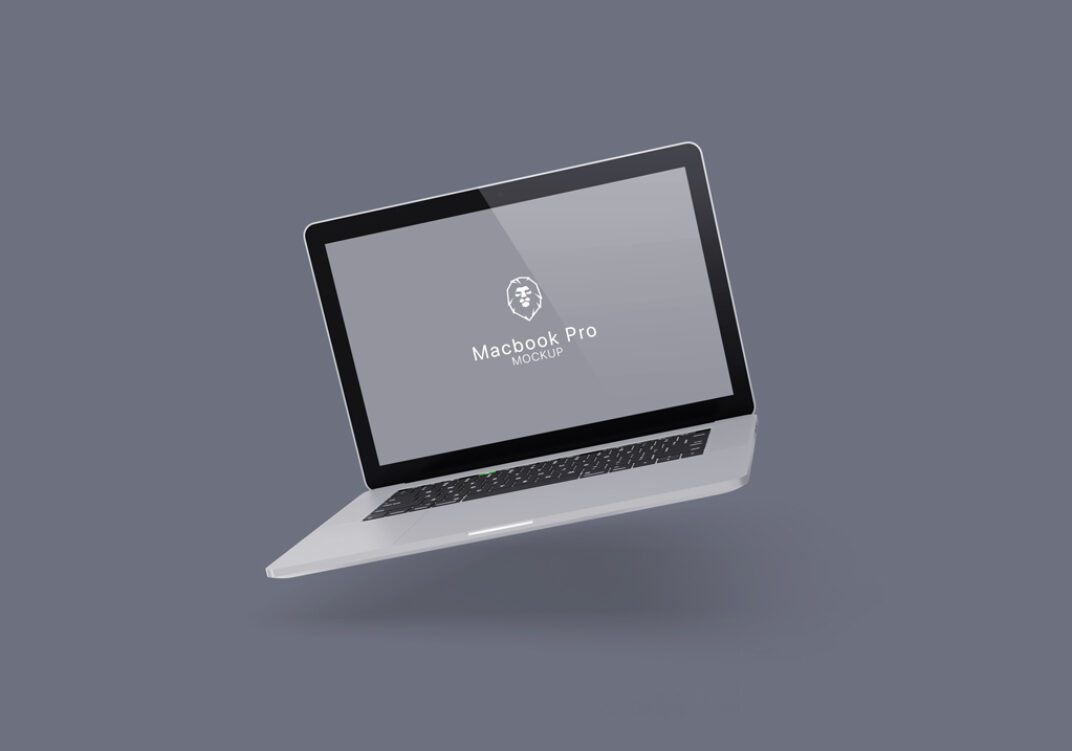 Floating MacBook Pro Mockups FREE download