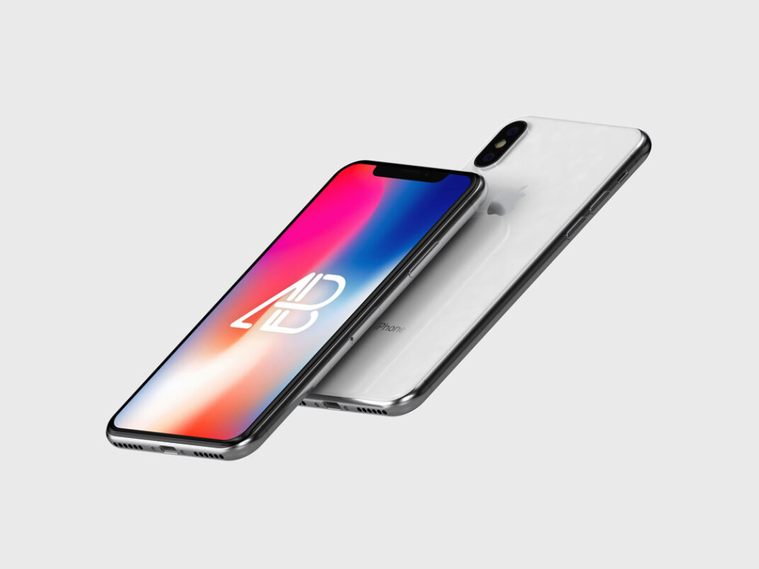 Floating black or white iPhone X Mockup FREE download