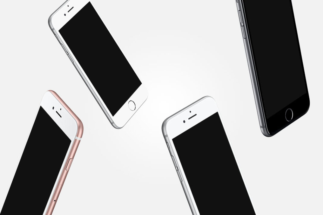Floating iPhones Mockup FREE download