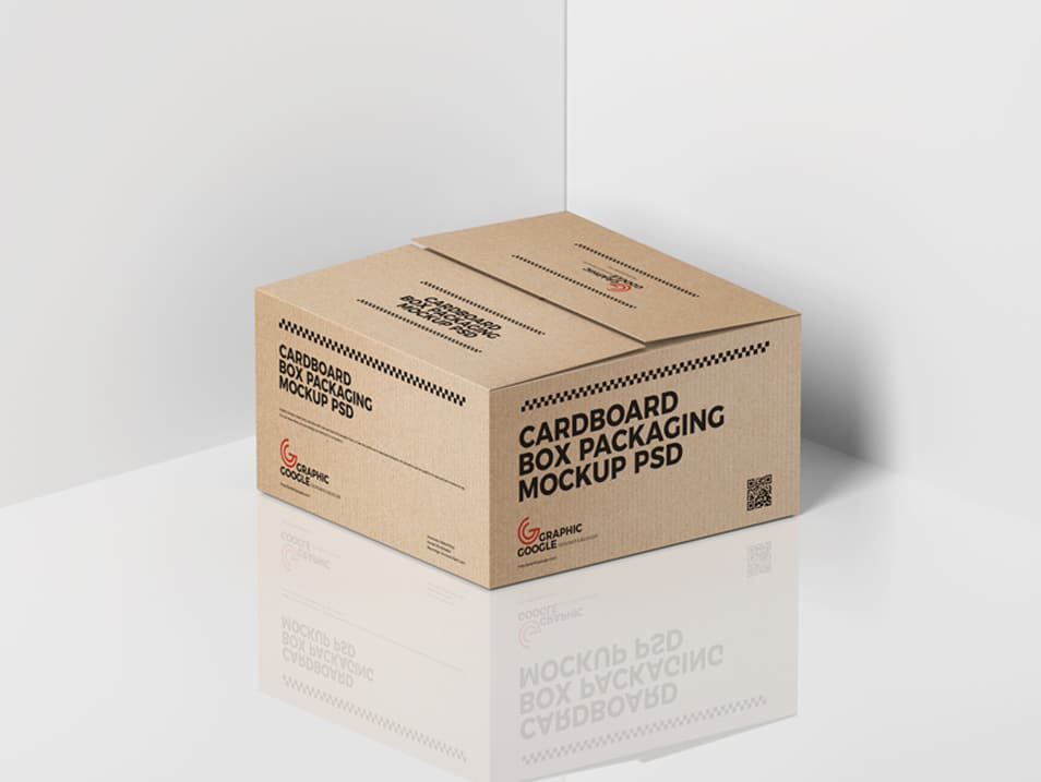 Free Cardboard Box Packaging Mockup PSD FREE download
