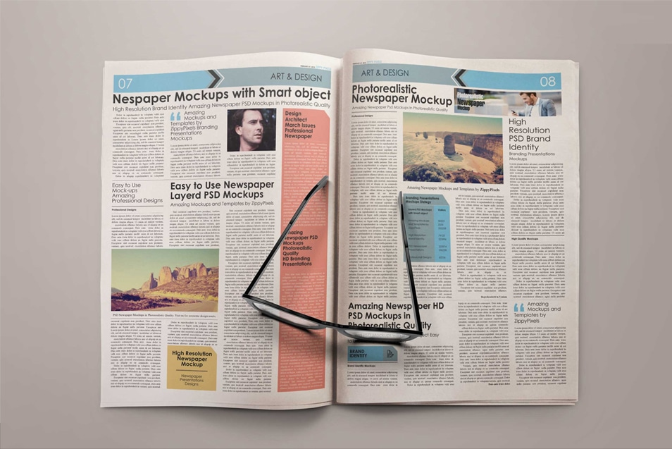 Free Mock-up Newspaper Plain FREE download