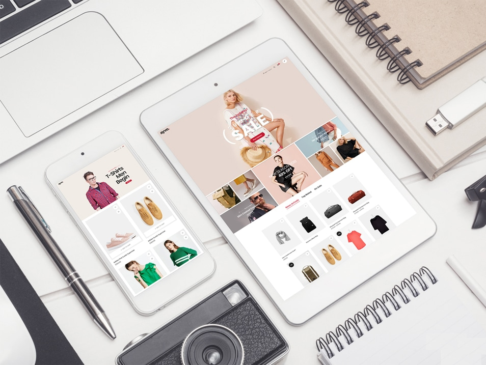 Free Smartphone with Tablet Mockup PSD FREE download