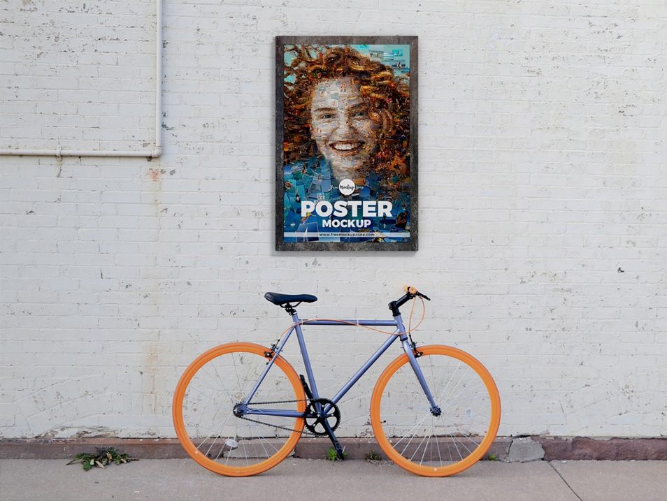 Free Street Wall Poster Mockup Design FREE download