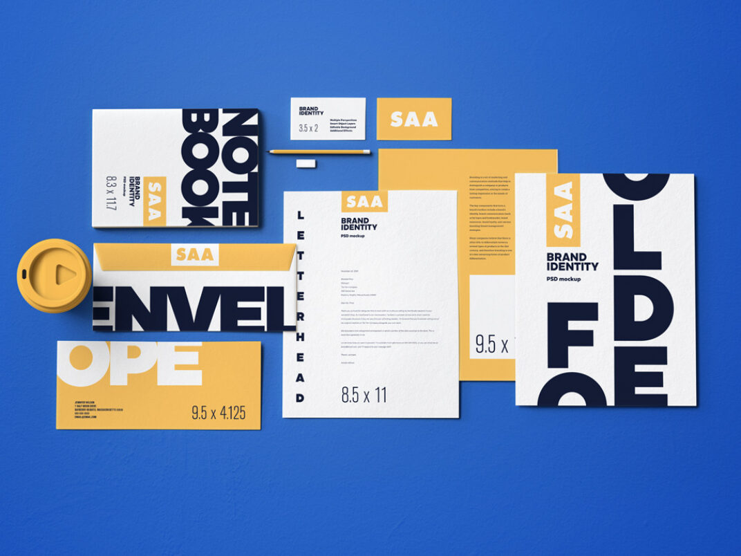 Full Brand Identity and Stationery Mockup Bundle FREE download