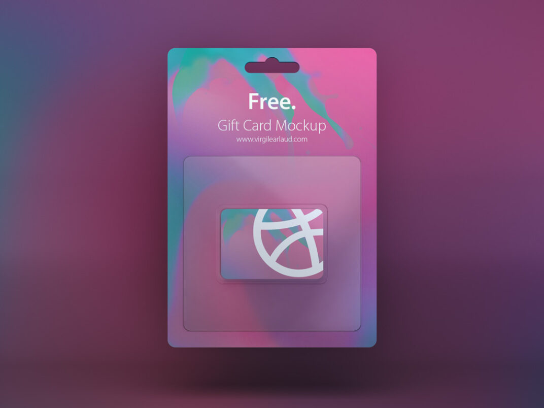 Gift Card Mockup FREE download