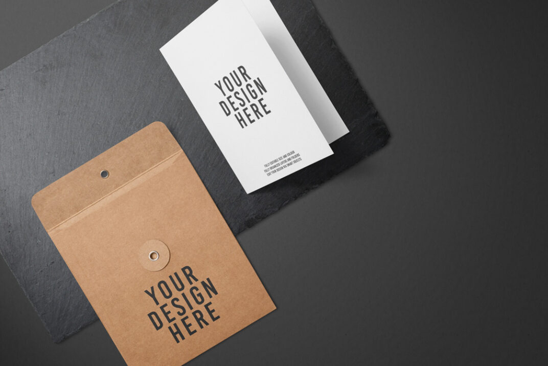 Greeting Card and Envelope Mockup FREE download