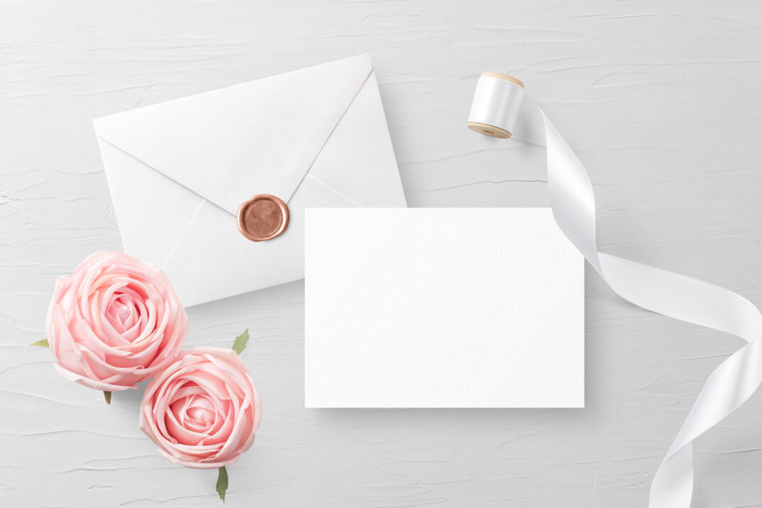 Invitation Card with Envelope Mockup FREE download