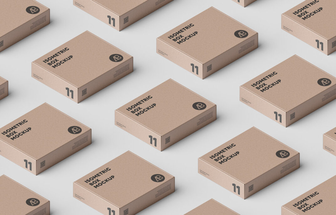 Isometric Boxes Mockup FREE download