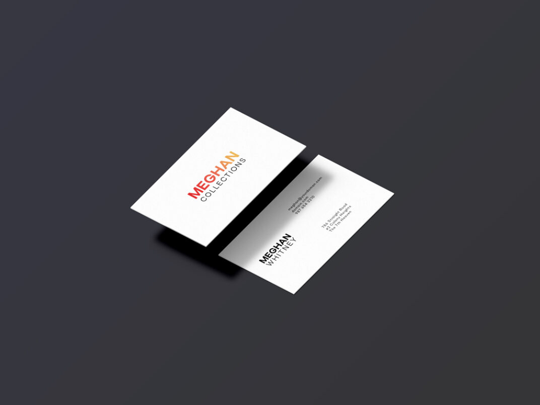 Isometric Business Card Mockup FREE download