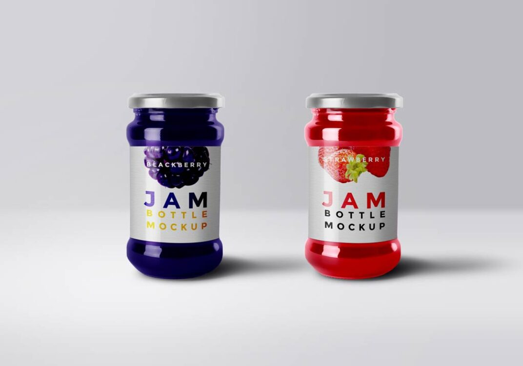 Jam Glass Mockup FREE download