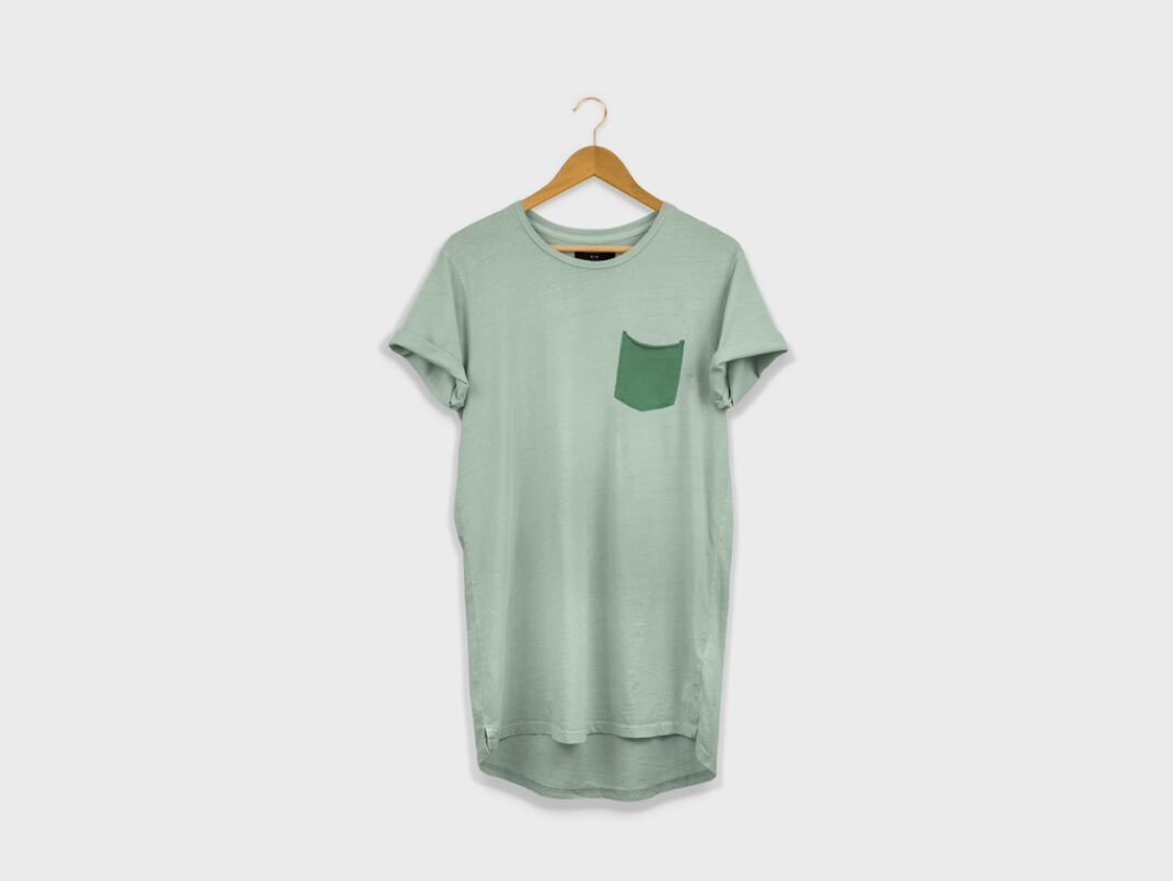 Longline T-Shirt on a Hanger Mockup FREE download