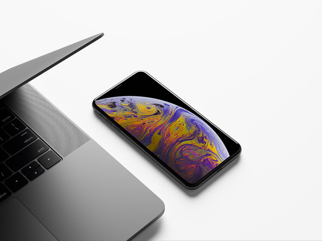 MacBook and iPhone XS Max Mockup FREE download