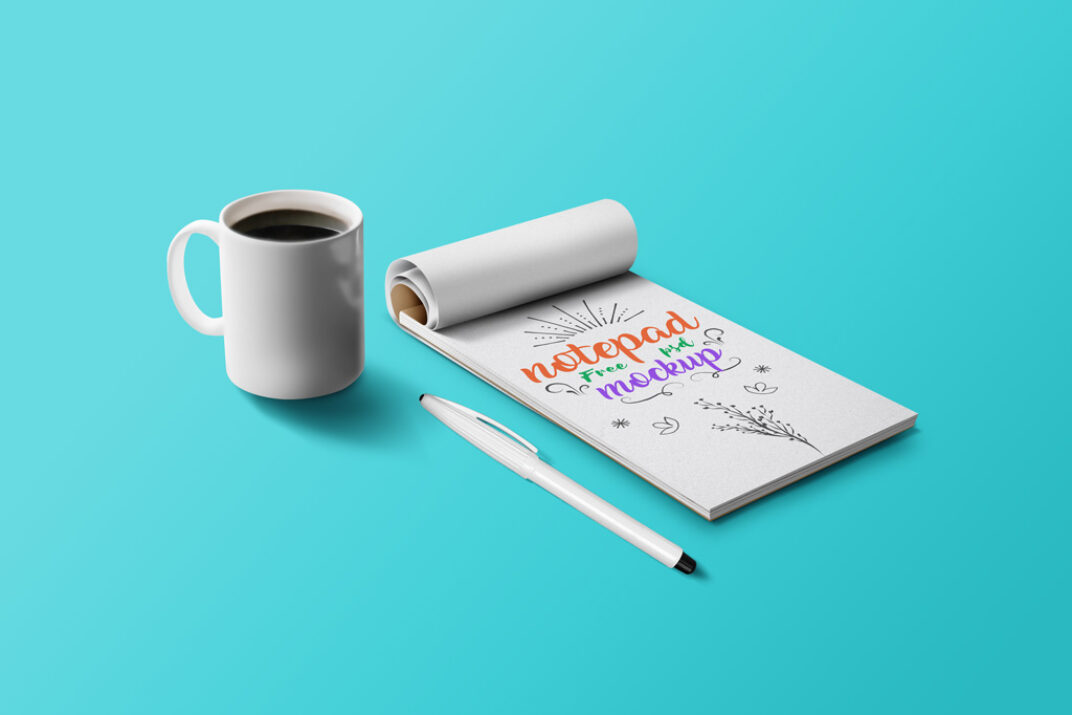 Notepad with Penl Mockup FREE download