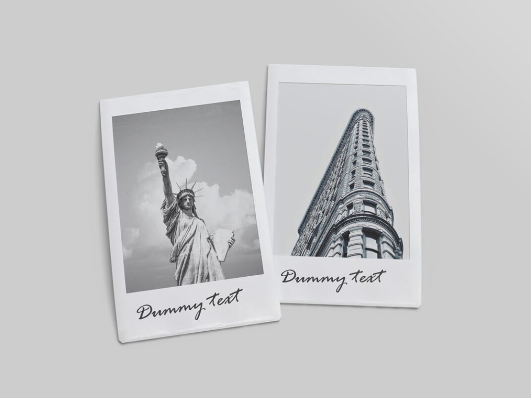 Old Polaroids Mockup FREE download
