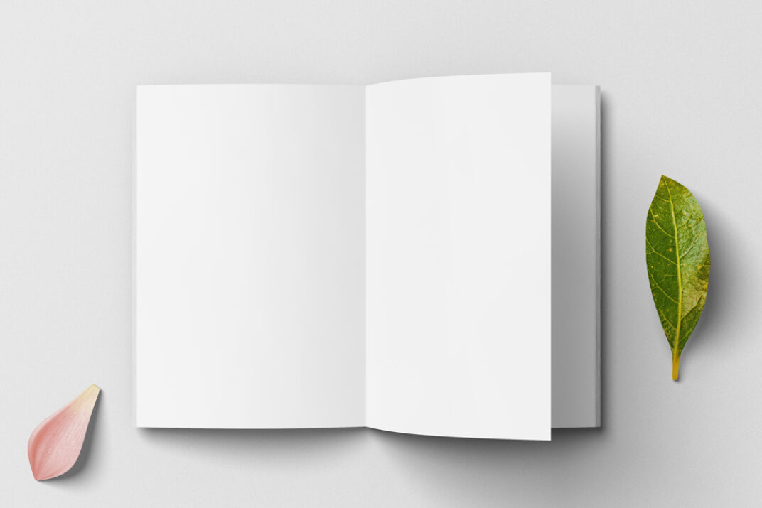 Open Magazine (A4) Mockup FREE download
