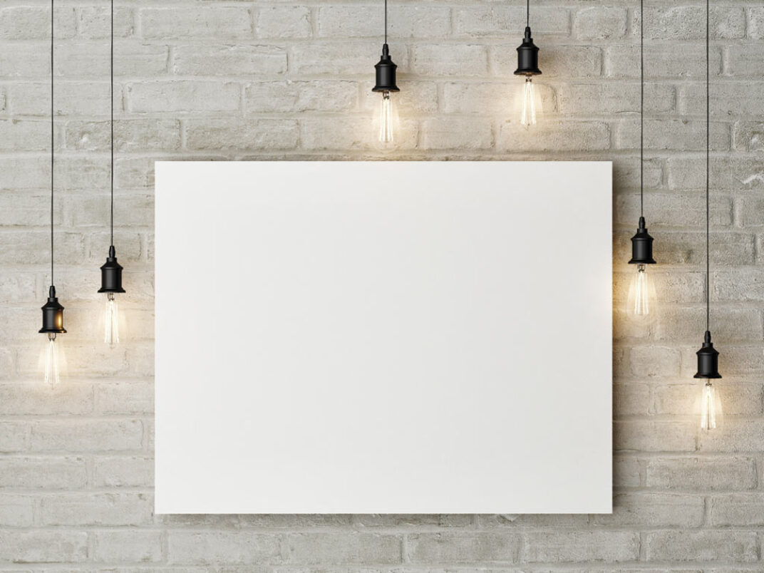 Painting on a Wall Mockup FREE download