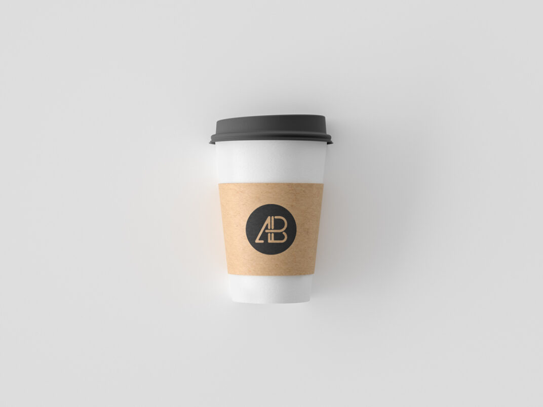 Paper Coffee Cup with Plastic Lid Mockup FREE download