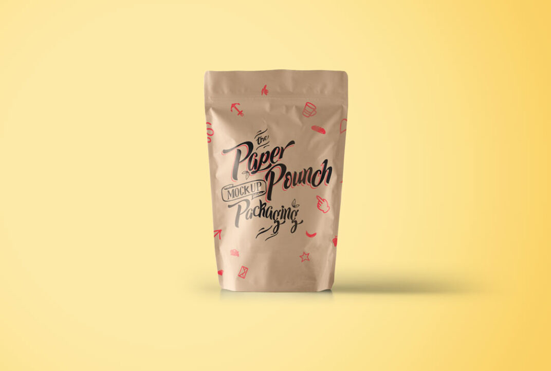 Paper Pouch Packaging Mockup FREE download
