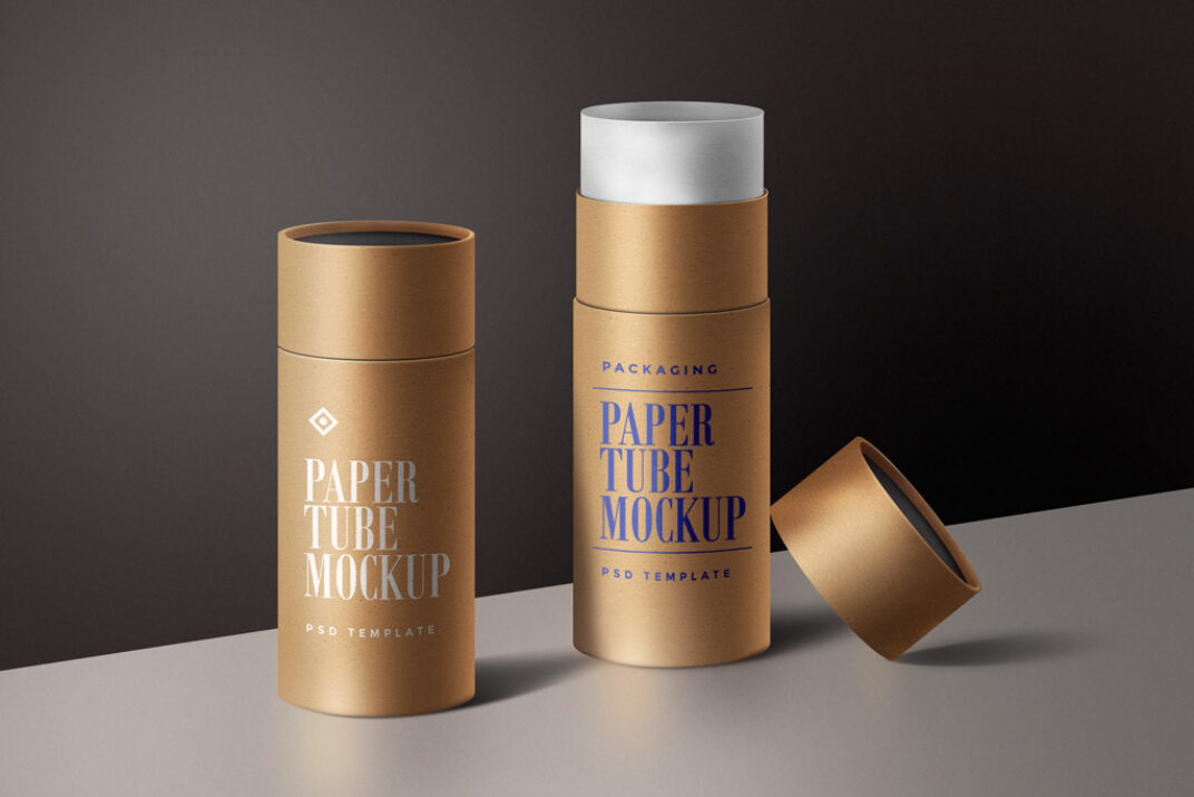 Paper Tube Mockups FREE download