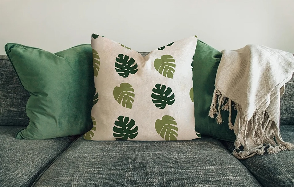 Pillow On The Sofa Mockup FREE download