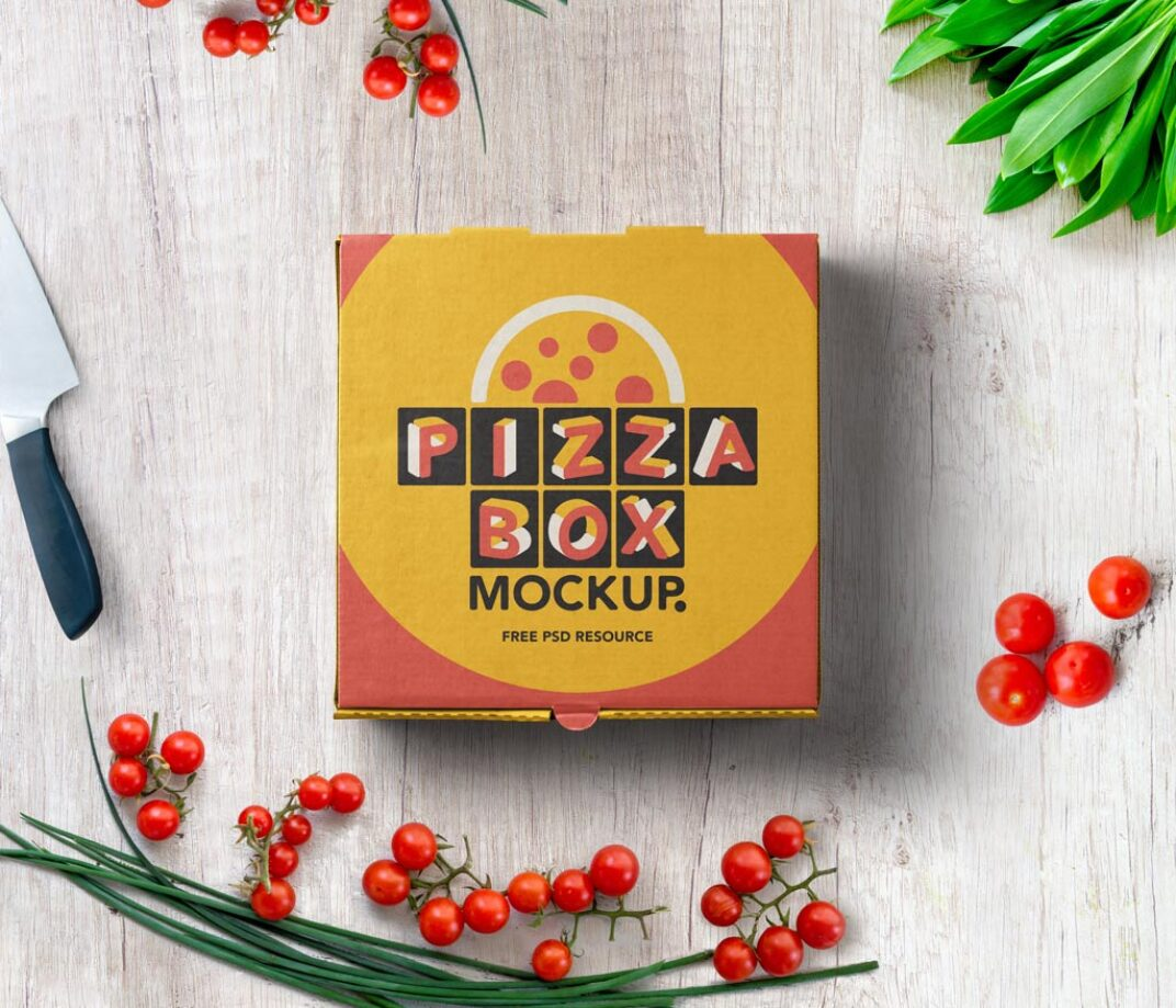 Pizza Box Mockup FREE download