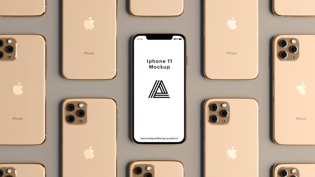Rose Gold iPhone 11 Showcase Mockup FREE download