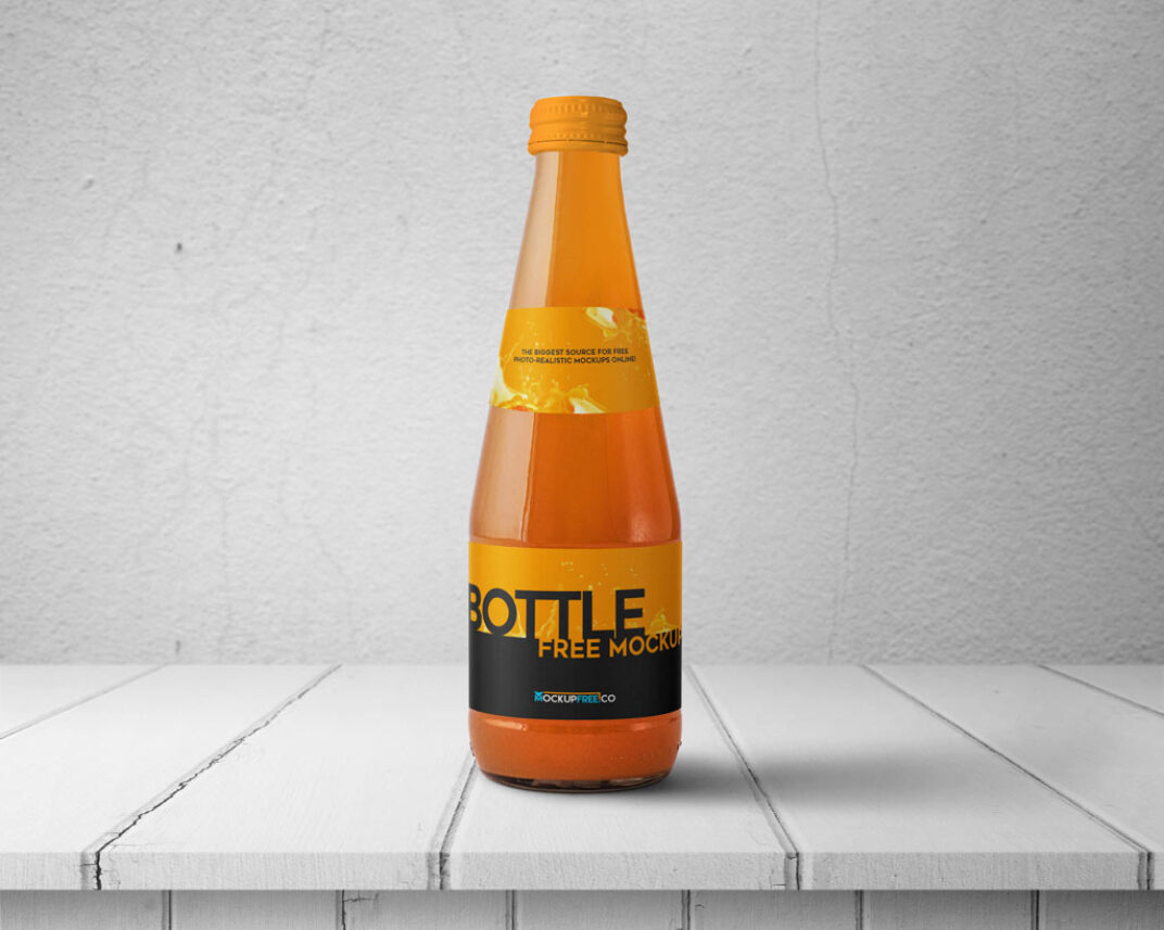 Set of Beverage Bottle Mockups FREE download