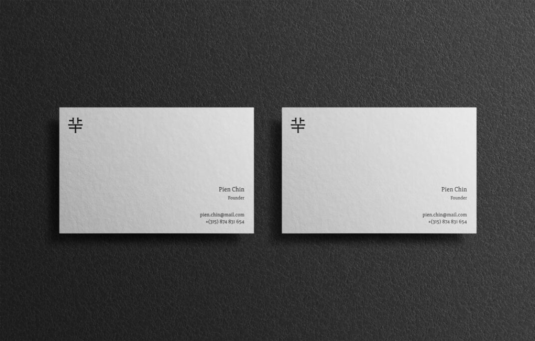 Set of Business Cards Mockups FREE download