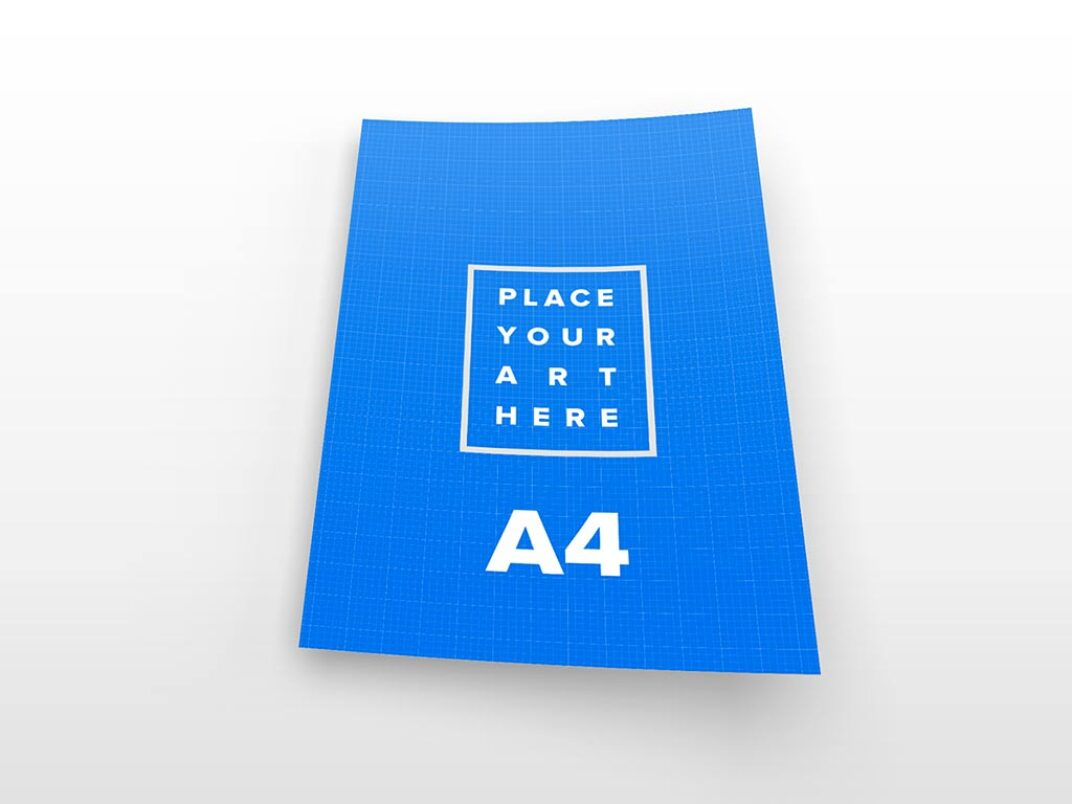 Sheets of A4 Paper Mockups FREE download